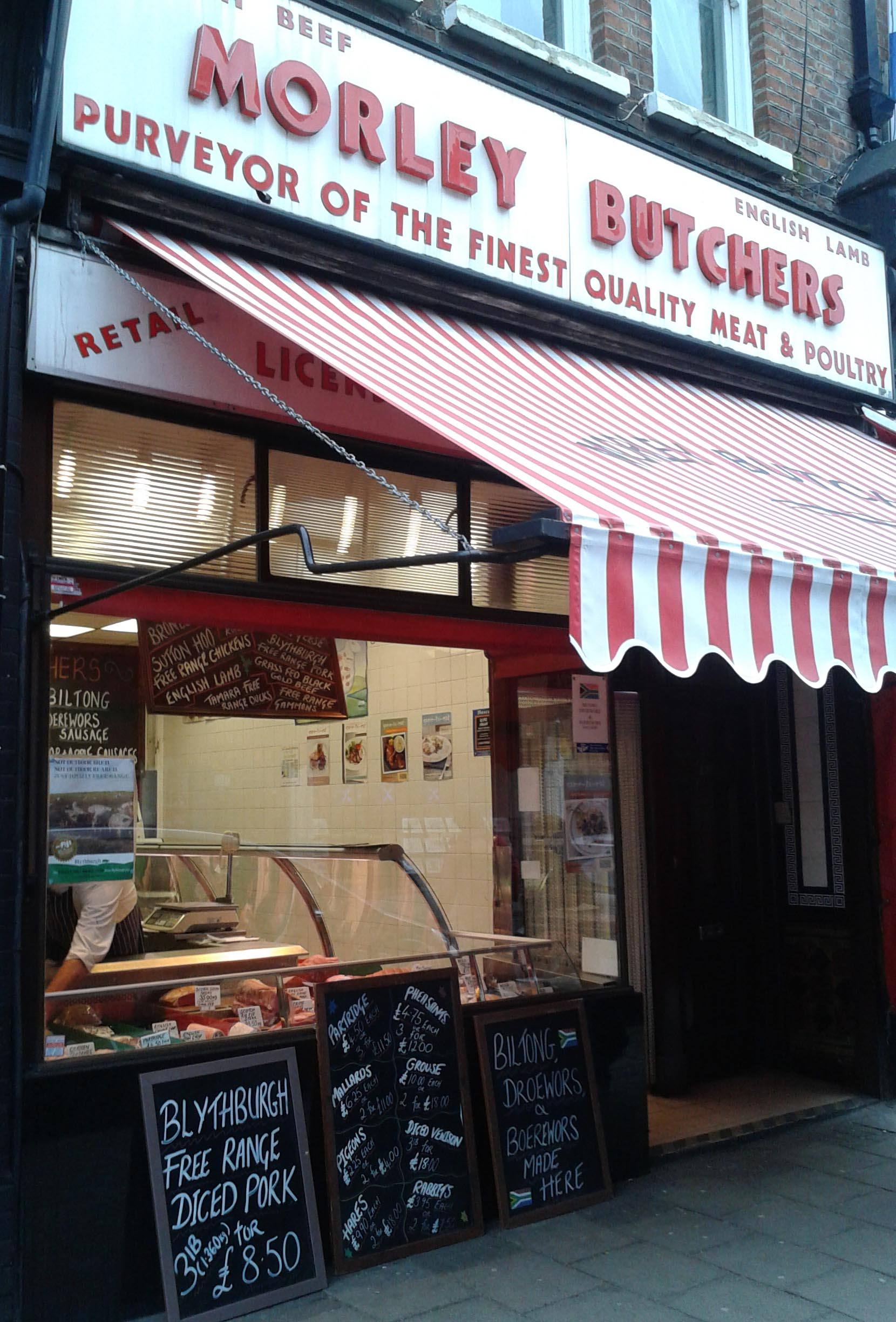 Butchers shop front