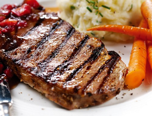 Rib Eye Steak Recipe With Rhubarb And Onion Chutney