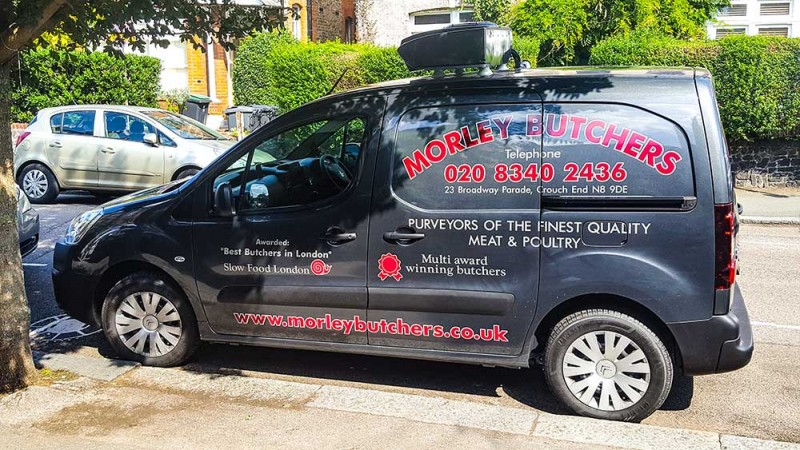 butchers local home delivery van